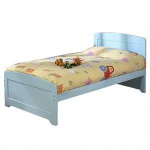 Детская кровать с лаконичным дизайном. Голубая.