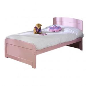 Детская кровать с лаконичным дизайном. Розовая.