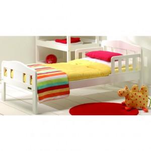 Европейский дизайн детской кровати. Белая эмаль.