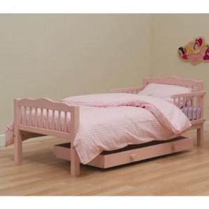 Розовая детская кровать