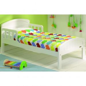 Дизайн кровати с плавными линиями. Белая эмаль.