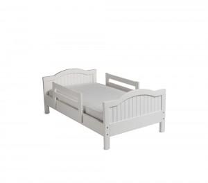 Детская кровать с двумя спинками, белая эмаль